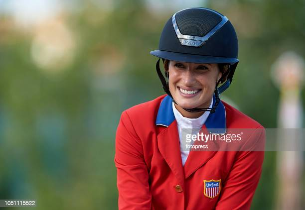 Jessica Springsteen during the Challenge Cup of the First Round of Longines FEI Jumping Nations Cup Final of Barcelona on October 6 2018 in Barcelona...