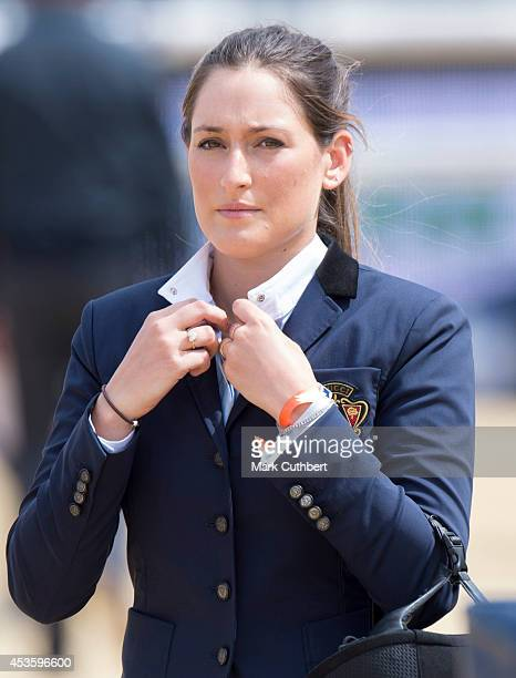 Jessica Springsteen during the Longines Global Champions Tour at Horse Guards Parade on August 14 2014 in London England