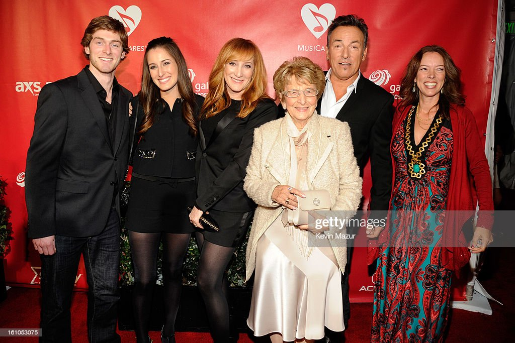 Jessica Springsteen, Patti Scialfa, Bruce Springsteen, Adele Springsteen and Pamela Springsteen attend MusiCares Person Of The Year Honoring Bruce Springsteen at Los Angeles Convention Center on February 8, 2013 in Los Angeles, California.