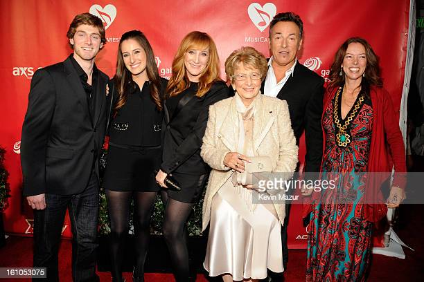 Jessica Springsteen, Patti Scialfa, Bruce Springsteen, Adele Springsteen and Pamela Springsteen attend MusiCares Person Of The Year Honoring Bruce...