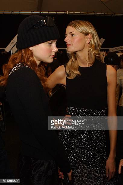 Jessica Stam and Jacquetta Wheeler attend Michael Kors Fall 2005 Fashion Show at The Tent at Bryant Park on February 9 2005 in New York City