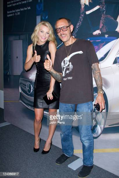 Jessica Stam and Terry Richardson are seen around Lincoln Center during Spring 2012 Mercedes-Benz Fashion Week on September 9, 2011 in New York City.