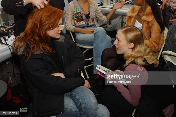 Jessica Stam attends Michael Kors Fall 2005 Fashion Show at The Tent at Bryant Park on February 9 2005 in New York City