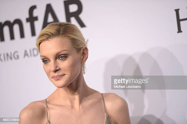 Jessica Stam attends the 2015 amfAR New York Gala at Cipriani Wall Street on February 11 2015 in New York City