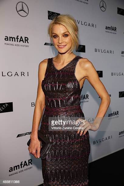 Jessica Stam attends the amfAR Milano 2014 Gala as part of Milan Fashion Week Womenswear Spring/Summer 2015 on September 20 2014 in Milan Italy