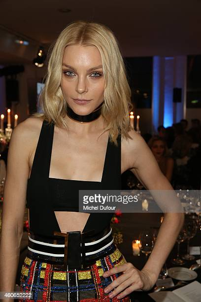 Jessica Stam attends the Annual Charity Dinner Hosted By The AEM Association Children Of The World For Rwanda At Espace Pierre Cardin In Paris at...
