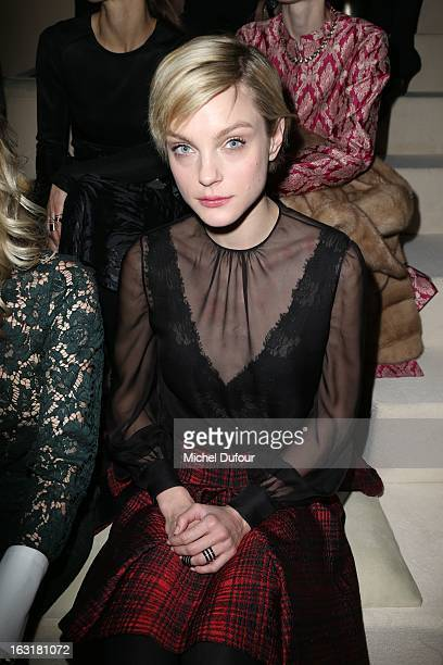 Jessica Stam attends the Valentino Fall/Winter 2013 ReadytoWear show as part of Paris Fashion Week on March 5 2013 in Paris France