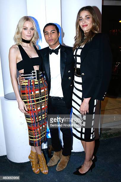Jessica Stam Fashion designer Olivier Rousteing Anna Beatrice Bavros attend the Annual Charity Dinner hosted by the AEM Association Children of the...