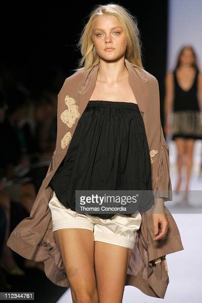 Jessica Stam wearing BCBG Max Azria Spring 2005 during ...