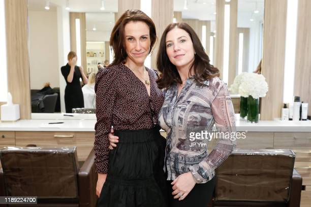 Jessica Stark and Leah Tehrani attend the Roman K Salon Madison Avenue Opening on November 21 2019 in New York City