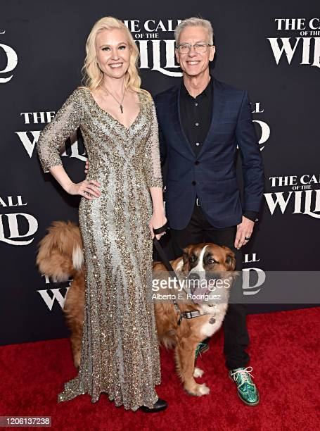 Jessica SteeleSanders Buckley and Director Chris Sanders arrive at the World Premiere of 20th Century Studios' The Call of the Wild at the El Capitan...