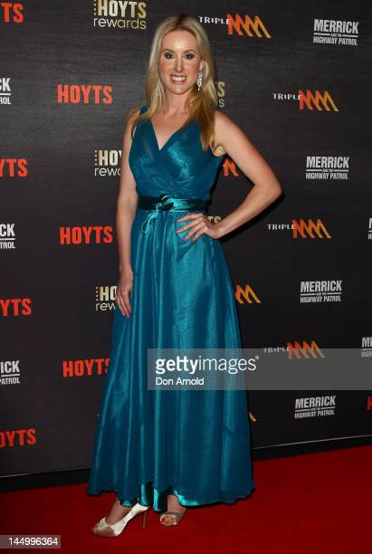 Jessica Sterling arrives at the Nullabor Nymph premiere at The Entertainment Quarter on May 22 2012 in Sydney Australia