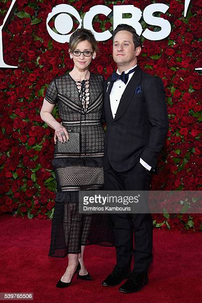 Jessica Stone and Christopher Fitzgerald attends 70th Annual Tony Awards Arrivals at Beacon Theatre on June 12 2016 in New York City
