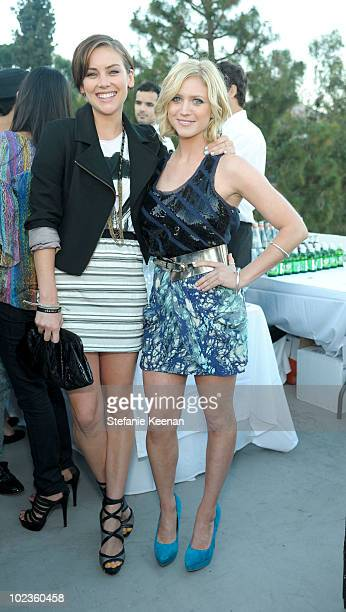 Jessica Stroup and Brittany Snow attend LOFT Fall 2010 Press Preview and Cocktail Party at Chateau Marmont on June 23, 2010 in Los Angeles,...