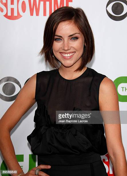 Jessica Stroup arrives at the 2009 TCA Summer Tour CBS CW and Showtime AllStar Party at the Huntington Library on August 3 2009 in Pasadena California