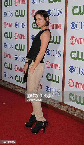 Jessica Stroup arrives at the TCA Party for CBS The CW and Showtime held at The Pagoda on August 3 2011 in Beverly Hills California