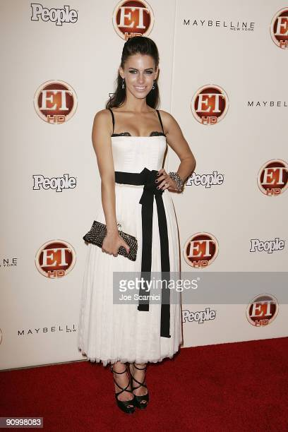 Jessica Stroup arrives at Vibiana for the 13th Annual Entertainment Tonight and People magazine Emmys After Party on September 20, 2009 in Los...