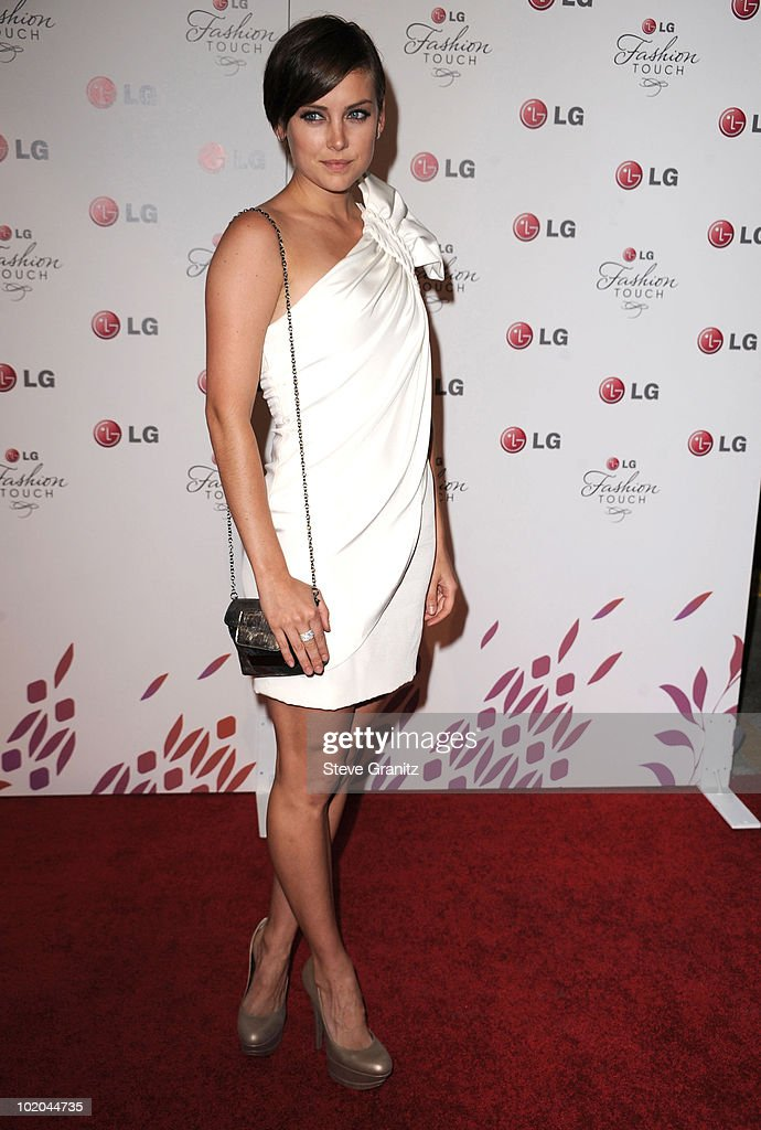 Jessica Stroup attends A Night Of Fashion & Technology With LG Mobile Phones Hosted By Victoria Beckham & Eva Longoria at Soho House on May 24, 2010 in West Hollywood, California.