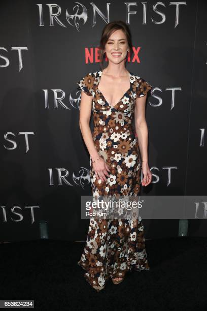 Jessica Stroup attends Marvel's Iron Fist New York Screening at AMC Empire 25 Times Square on March 15 2017 in New York City