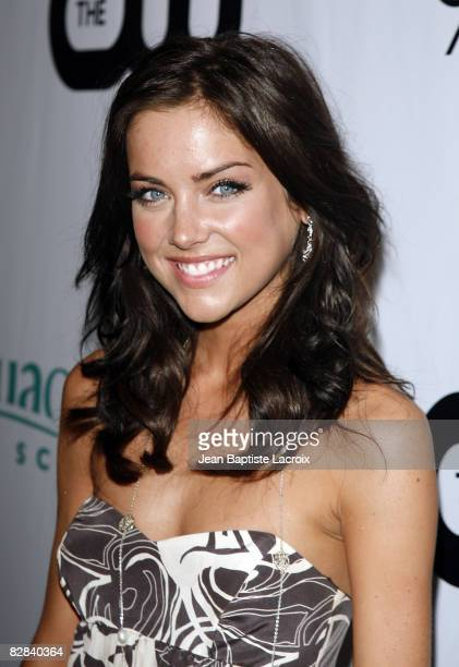 Jessica Stroup attends the CW Network's 90210 Premiere Party on August 23, 2008 in Malibu, California.
