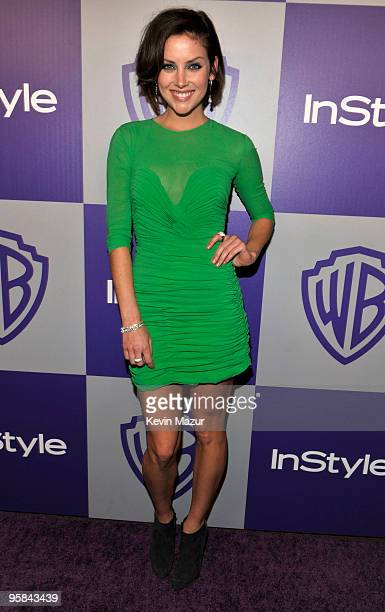 Jessica Stroup attends the InStyle and Warner Bros 67th Annual Golden Globes postparty held at the Oasis Courtyard at The Beverly Hilton Hotel on...