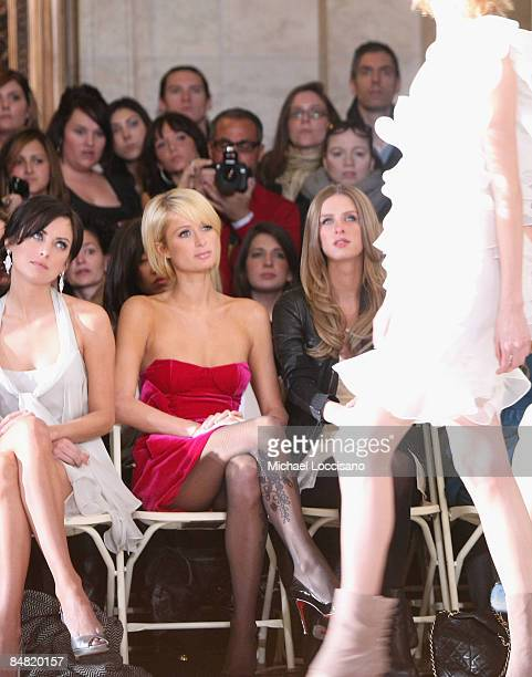 Jessica Stroup Paris Hilton and Nicky Hilton attend the Jill Stuart Fall 2009 fashion show during MercedesBenz Fashion Week in Astor Hall at the New...