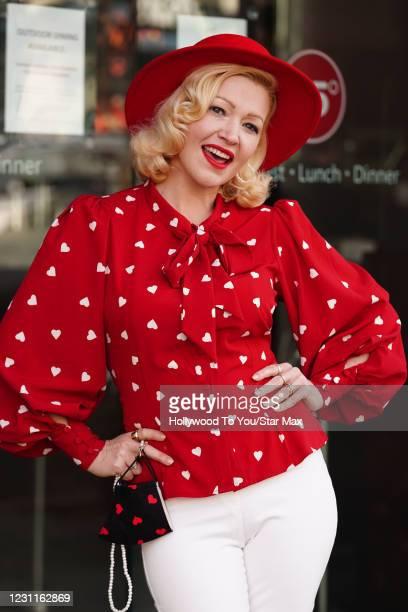 "Jessica ""Sugar"" Kiper is seen on February 13, 2021 in Los Angeles, California."