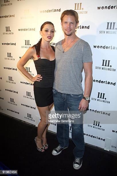 Jessica Sutta and Jonny Matlick attend the Seth Wellington Menswear Preview Launch Party at Wonderland on October 16 2009 in Hollywood California