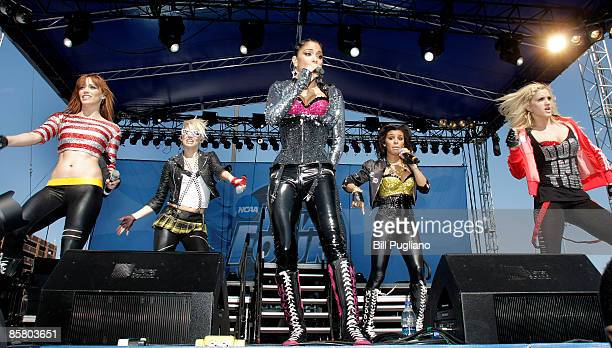 Jessica Sutta Ashley Roberts Nicole Scherzinger Melody Thornton and Kimberly Wyatt of The Pussycat Dolls perform at day 2 of The Big Dance free...