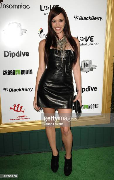 Jessica Sutta attends the 1st annual Data Awards at Hollywood Palladium on January 28 2010 in Hollywood California