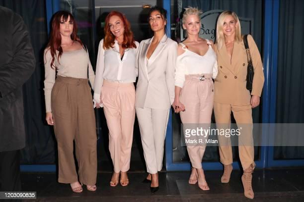 Jessica Sutta, Carmit Bachar, Nicole Scherzinger, Kimberly Wyatt and Ashley Roberts of The Pussy Cat Dolls are seen leaving Bagatelle restaurant on...