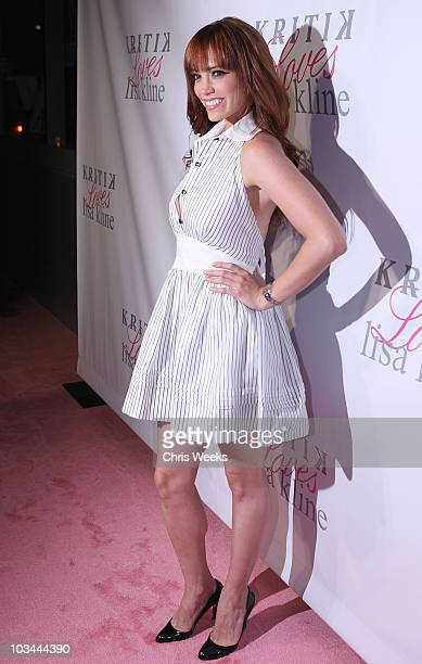 Jessica Sutta of the Pussycat Dolls attends a party for Kritik Clothing's summer launch at Lisa Kline on April 10 2008 in Beverly Hills California