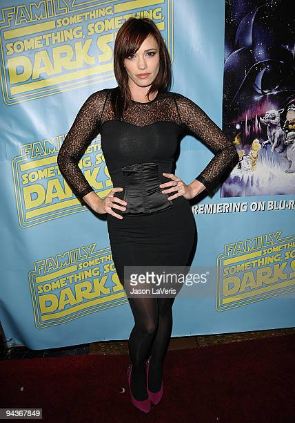 Jessica Sutta of the Pussycat Dolls attends the Family Guy Something Something Something Dark Side DVD release party on December 12 2009 in Beverly...