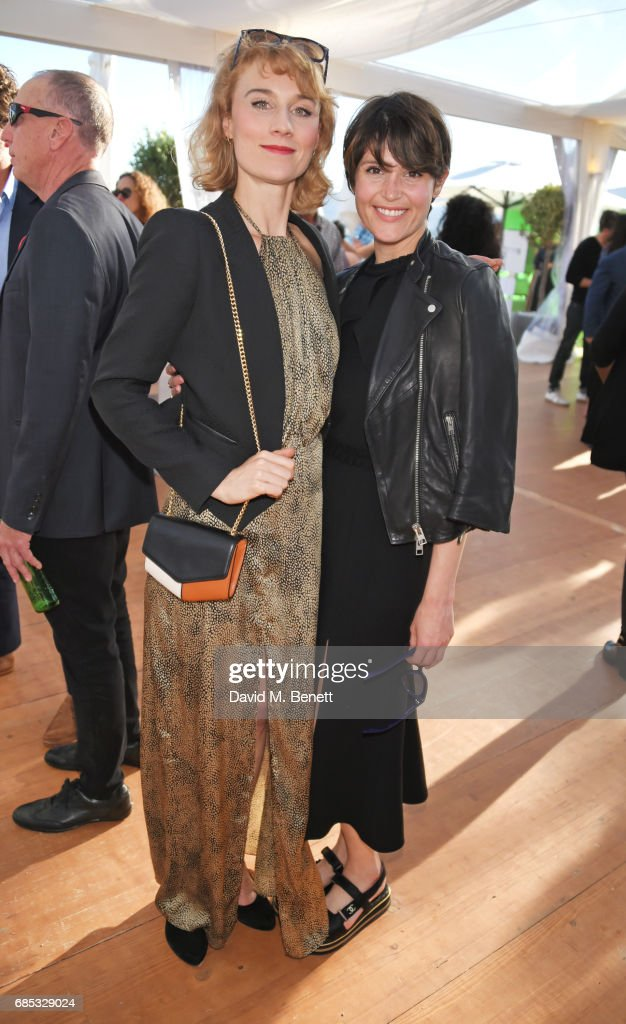 Jessica Swale (L) and Gemma Arterton attend Focus Features' 15th Anniversary party at the Cannes Film Festival at Baoli Beach on May 19, 2017 in Cannes, France.