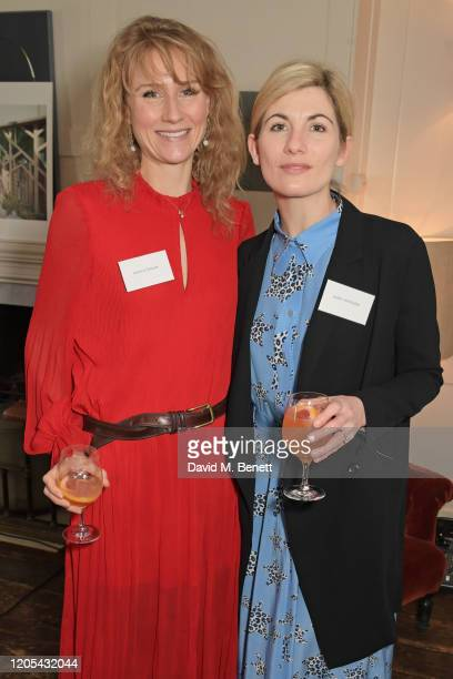 Jessica Swale and Jodie Whittaker attend a drinks reception at Soho House to celebrate the announcement of a brand-new childcare facility at Warner...