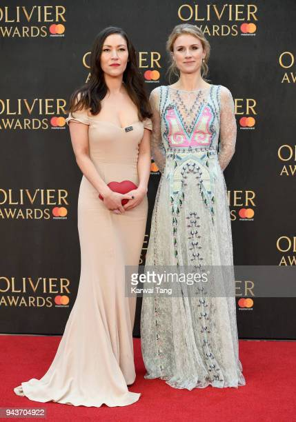 Jessica Swale attends The Olivier Awards with Mastercard at Royal Albert Hall on April 8 2018 in London England
