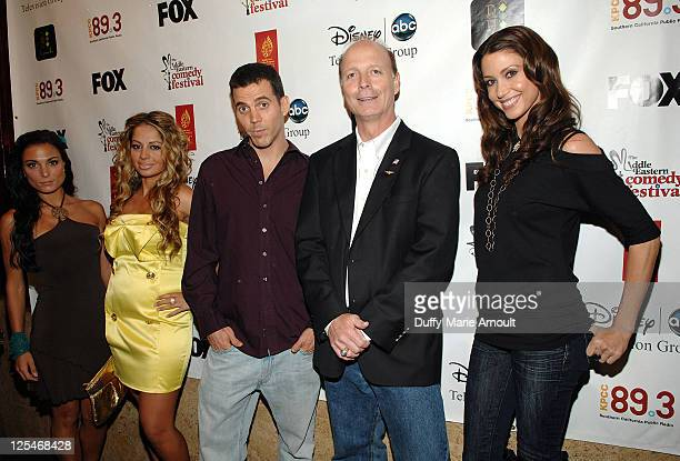 Jessica Sylvia Gia Khay SteveO Dan Fanelli and Shannon Elizabeth attend the 2nd Annual Middle Eastern Comedy Festival Awards Ceremony at The Laugh...