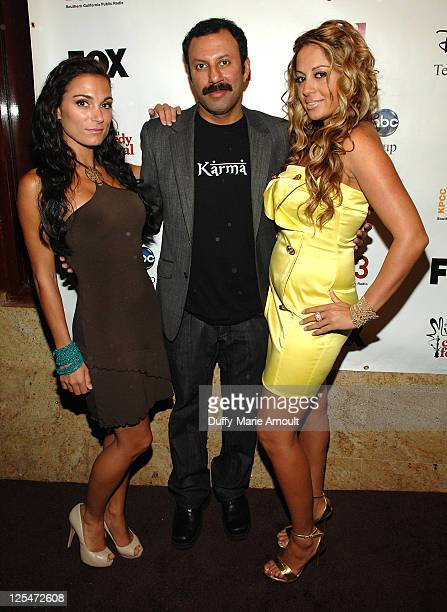 Jessica Sylvia Rizwan Mangi and Gia Khay attend the 2nd Annual Middle Eastern Comedy Festival Awards Ceremony at The Laugh Factory on October 4 2010...