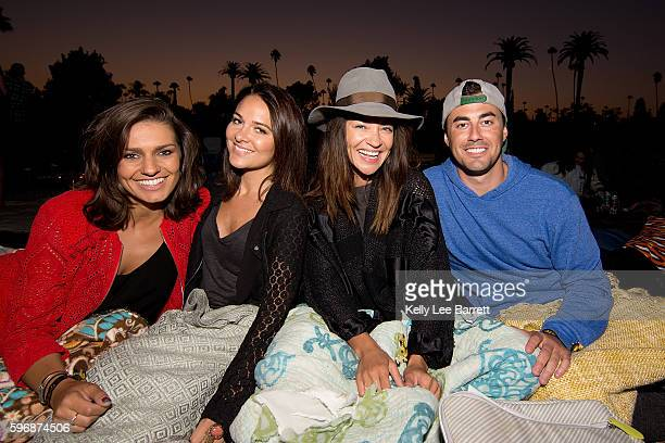 Jessica Szohr and friends attend Cinespia's screening of 'Poltergeist' held at Hollywood Forever on August 27 2016 in Hollywood California