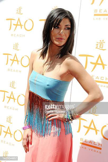 Jessica Szohr arrives at TAO Beach 2012 Season Opening on May 5 2012 in Las Vegas Nevada