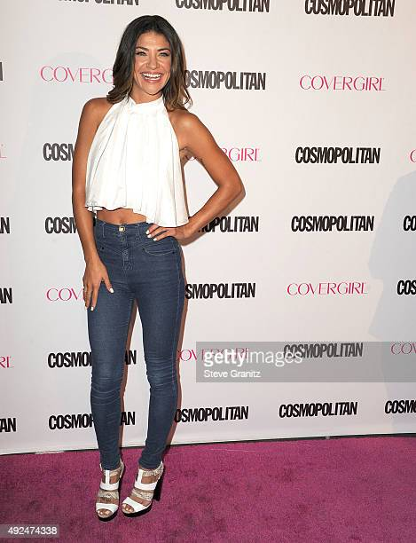 Jessica Szohr arrives at the Cosmopolitan Magazine's 50th Birthday Celebration at Ysabel on October 12 2015 in West Hollywood California