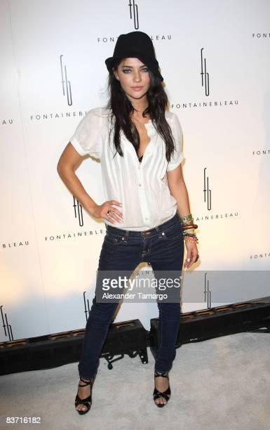 Jessica Szohr arrives for the grand opening of Fontainebleau Miami Beach on November 14 2008 in Miami Beach Florida