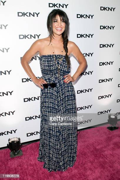 Jessica Szohr attends the DKNY Sunglass Soiree at The Beach at Dream Downtown on July 26 2011 in New York City