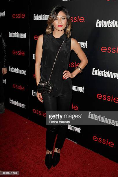 Jessica Szohr attends the Entertainment Weekly SAG Awards preparty at Chateau Marmont on January 17 2014 in Los Angeles California