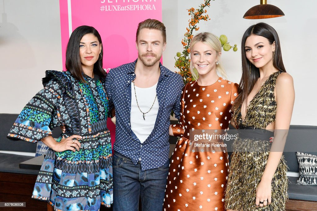 Jessica Szohr, Derek Hough, Julianne Hough and Victoria