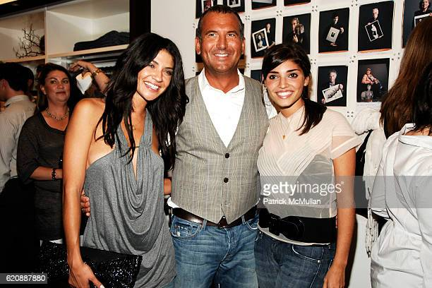 Jessica Szohr Mike Egeck and Amanda Setton attend 7 FOR ALL MANKIND New York Flagship Boutique Opening with VOGUE and Photo Exhibition by TIM...