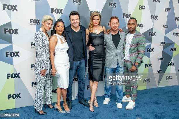 Jessica Szohr Penny Johnson Jerald Seth MacFarlane Adrianne Palicki Scott Grimes and J Lee attend the 2018 Fox Network Upfront at Wollman Rink...