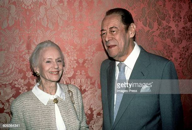 Jessica Tandy and Rex Harrison circa 1990 in New York City