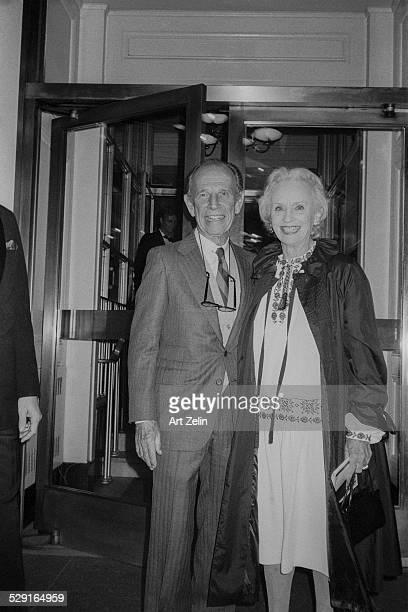 Jessica Tandy with her husband Hume Cronyn circa 1970 New York