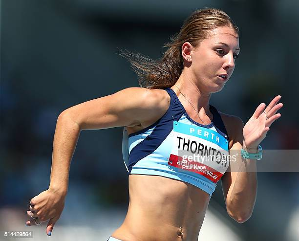Jessica Thornton of New South Wales competes in the Women's 400 metre u20 heat during the Australian Junior Athletics Championships at the WA...